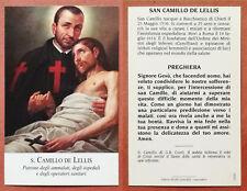 Santino Holy Card: S. San Camillo de Lellis di G.B. Conti