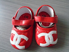 Red Elegant Mary Jane Girl Princess Baby Toddler Soft Sole Crib Shoes 6-18 M