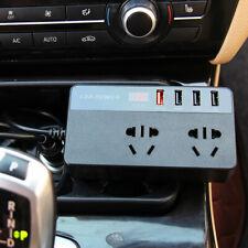 150W Car Power Inverter DC12V TO AC220V 4 USB Port Sine Wave QC 3.0  Charger LED