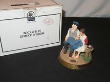 Norman Rockwell Figurine A Stitch In Time w/ Box & Coa Gems of Wisdom Collection