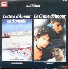 JEAN WIENER OST LETTRES D'AMOUR EN SOMALIE + LE CRIME D'AMOUR LP French Mint