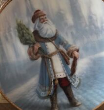 Duncan Royale Russian Saint Nicholas Portraits of Santa Plate full size #136 Coa