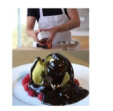 "2 LARGE Acrylic 10cm 4"" Magic Chocolate Ball Mold Sphere Decorate Sweet Deserts"