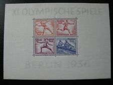 THIRD REICH Mi. #Block 6 mint Summer Olympics stamp sheet! CV
