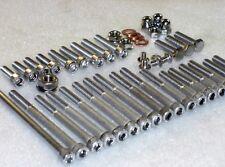 Suzuki RMX50 95-04 motor cubre Cilindro De Acero Inoxidable Tuercas Pernos Allen & Kit 38pc