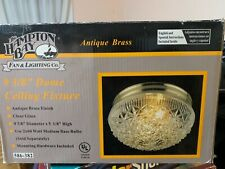 """the hampton bay 9 3/8"""" dome ceiling fixture antique brass"""