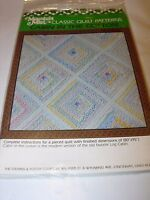 QUILT SQUARE PATTERN CRAFT SEWING QUILTING PROJECT CABIN IN THE COTTON 80X95