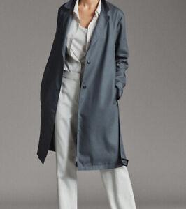 Massimo Dutti  Coat  Small,Lyocell,Pockets rrp £129 Imperfect Bnwt