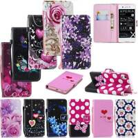 Wallet PU Leather Flip Stand Phone Case Cover for Sony Xperia L1 L2 XA1 XA2 XZ1