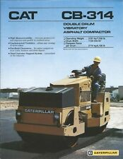 Equipment Brochure - Caterpillar - CB-314 - Asphalt Compactor - c1988 (E4450)