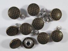 Jeans Knopf 10 stück mit Niete schwarz bronze   knöpfe 18 mm   #1303#