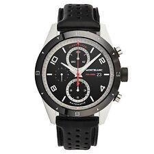 Mont Blanc Men's Timewalker Black Dial Leather Strap Automatic Date Watch 116098