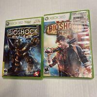 "Lot Of 2 Bioshock Games For Xbox 360 ""Bioshock & Bioshock Infinite"" CIB"