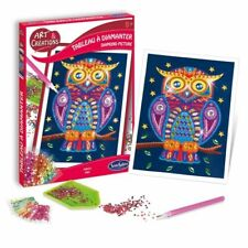 Sentosphere Owl Diamond Picture Mosaic Craft Kit for Kids aged 8 yrs+