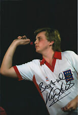 Keith DELLER Signed 12x8 Autograph Photo AFTAL COA Darts Champion