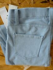 JEGGING ~S~4-6 LIGHT BLUE STRECH DENIM FAUX FRONT WITH REAL BACK POCKETS~NEW