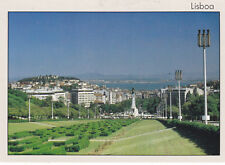 Eduardo VII Park and Marques de Pombal Lisbon Portugal Postcard Unused VGC