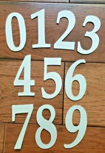 """WHITE 4"""" Street Address Reflective Mailbox House Number - outdoor strong stick"""