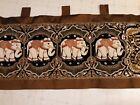 Beautiful Kalaga Hand Beaded  Vintage Tapestry Thai Burmese With Five Elephants