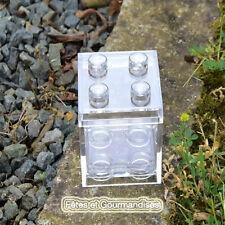 Lego cube plexi rigide transparent contenant dragees bapteme mariage communion f