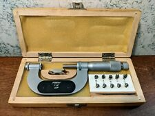 Fowler 1 2 Thread Pitch Micrometer With 5 Anvil Sets Amp Standard Made In Poland