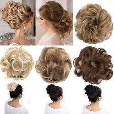 Natural Messy Bun Hair Pieces Real Scrunchy Scrunchie Bun Up Topper Blond Mix FA