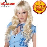 W552 Coquette Blonde Long Wavy Party Fairytale Alice in Wonderland Costume Wig