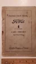 1932 FORD  - Original Instruction Book 4- Cylinder Cars - Good Condition (CDN)