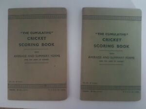 """X 2 Vintage Scoring Books """"Cumulative"""" Average and Summary Sheets - Partly Used."""