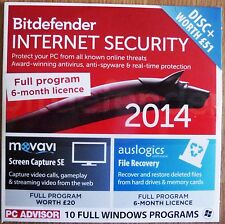 BITDEFENDER INTERNET SECURITY 2014 + 2 OTHER FULL PROGRAMS WINDOWS 8