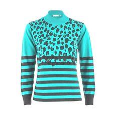 Rabe 1920 Leopard Stripe Print Jumper - Pale Green Ladies UK Size 16 Box65 08 H
