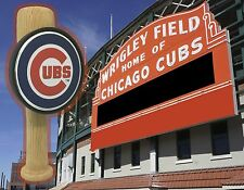 Chicago Cubs themed Baseball Bat beer tap handle C