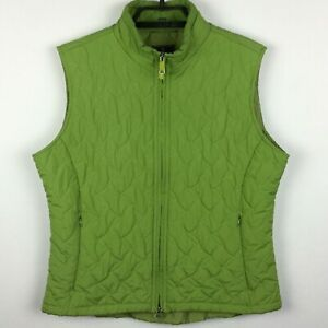 Royal Robbins Vintage Quilted Puffer Vest Packable Green 2 Way Zipper Large