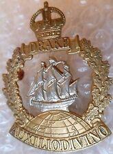 Badge- Drake Battalion Royal Naval Division Cap Badge KC (Bi-Metal)