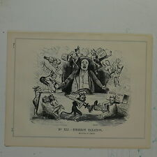 "7x10"" punch cartoon 1842 INDIRECT TAXATION multum in parvo"