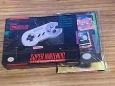 Nintendo SNES Original Controller - OEM Box & Sealed Inserts ONLY - NEAR MINT
