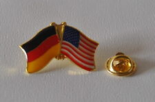 FREUNDSCHAFTSPIN 0146 PIN ANSTECKER DEUTSCHLAND / USA FAHNE BUTTON METALL PINS