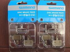 2x Shimano Disc Brake Pads Resin B01S M515 M416 M525 M465 M575 M495 M486 **New**