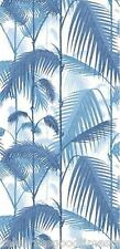 Tropical Island Palm Trees - Wall paper - Vintage Blue