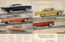 1957 FORD Thunderbird Fairlane 500 Lincoln Capri Mercury Monterey Romeo PRINT AD