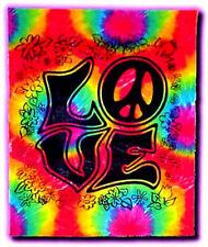"""POSTER TAPESTRY: LOVE - TIE DYE (TYE DYE) LARGE 45"""" X 40"""" SIZE"""