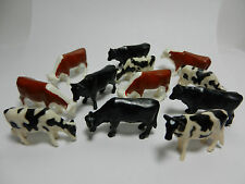 ONE DOZEN 1:64th ERTL COWS/CATTLE  *Hereford Angus & Holstein* NEW!