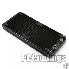 280mm Radiator Aluminum Barb 3/8 OD Black For PC Water Liquid Cooling