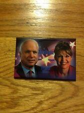 """2008 John McCain & Sarah Palin Original 3"""" X 2"""" President Campaign Button"""