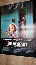 JEU D'ENFANT child's play  chucky  !  affiche cinema