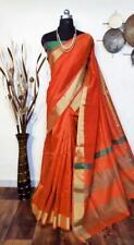 Soft Raw Silk Women Special Wear Designer Sari Bollywood Sari Indian Wear I 4-1