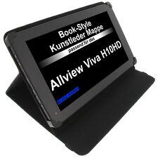 Tasche für Allview Viva H10 Book Style Schutz Hülle Tablet Case Schwarz