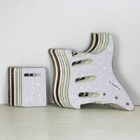 NEW Strat Electric Guitar Pickguard SSS & Back Tremolo Cover No Mounting Holes