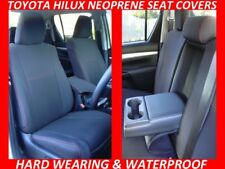 TOYOTA HILUX  FRONT & REAR NEOPRENE SEAT COVERS FULL COVERAGE+MAP POCKETS X 4
