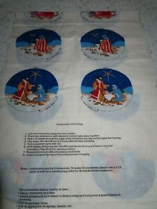 VIP Cranston Cut and Sew Fabric Panel  Christmas Nativity Ornaments 6 or 12
